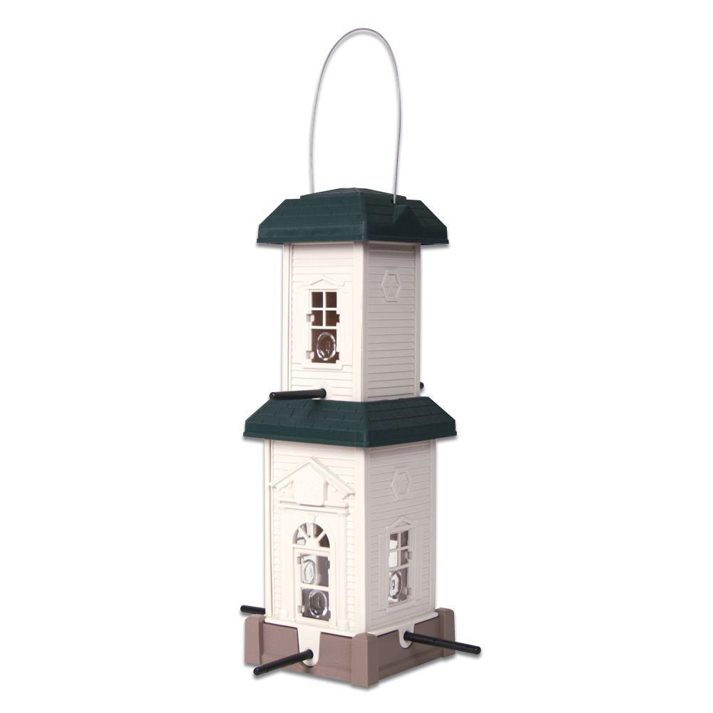 gardens feeder baffle to squirrel outdoors wildlife solvers and thistle solve feeding feeders hanging problem problems animals pictures bird hgtv
