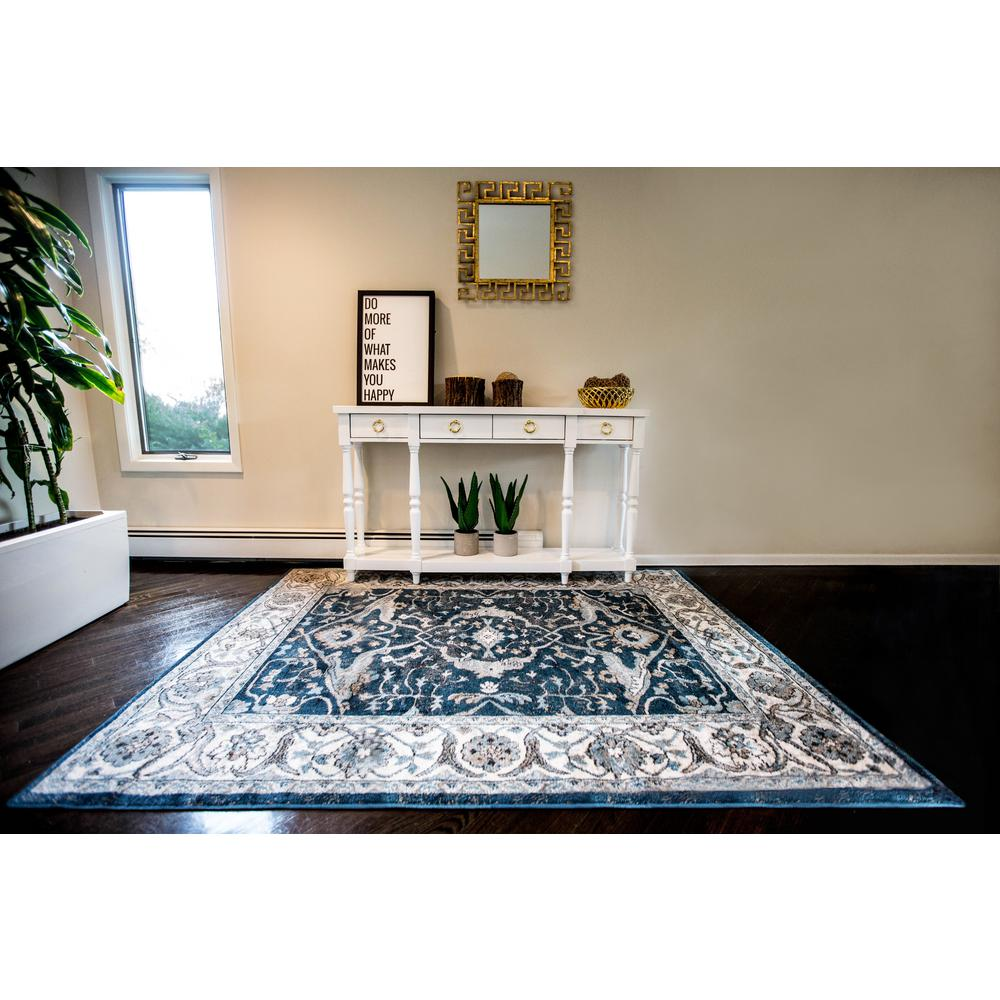 home dynamix reaction by daisy fuentes navy/ivory 7 ft. 10 in. x
