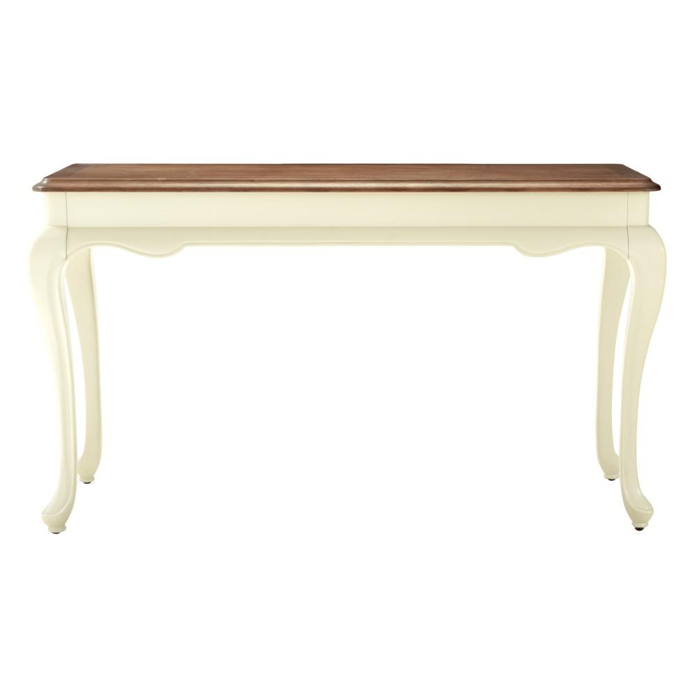 Provence Ivory Console Table with Ash Grey Top