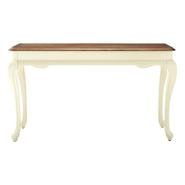 Provence 54 in. Ivory/Ash Brown Standard Rectangle Wood Console Table