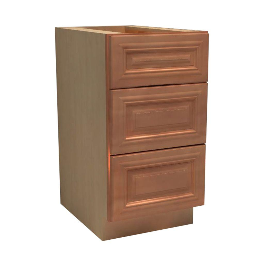15x34.5x24 in. Dartmouth Assembled Base Drawer Cabinet with 3 Drawers in