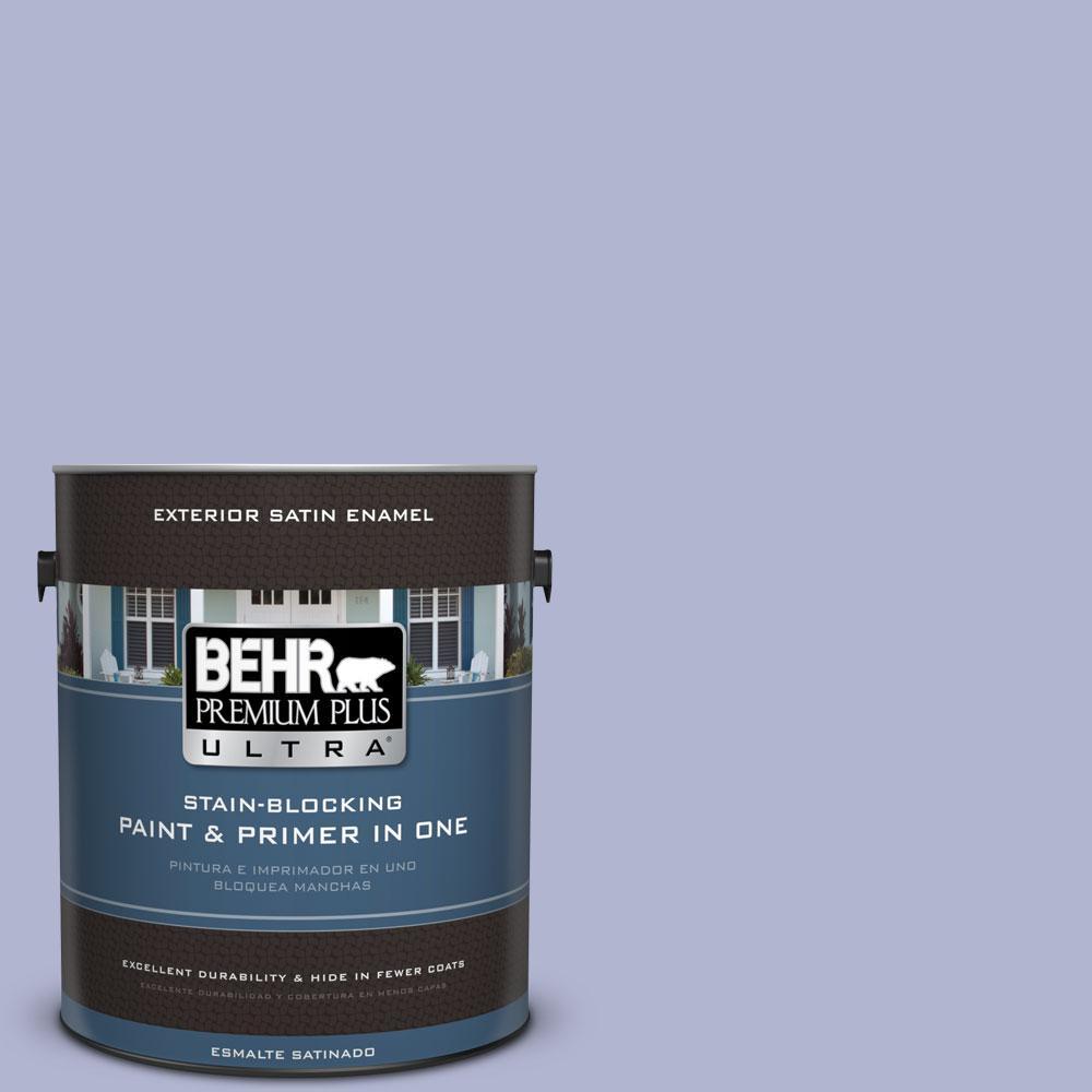 BEHR Premium Plus Ultra 1-gal. #620C-3 Purple Surf Satin Enamel Exterior Paint