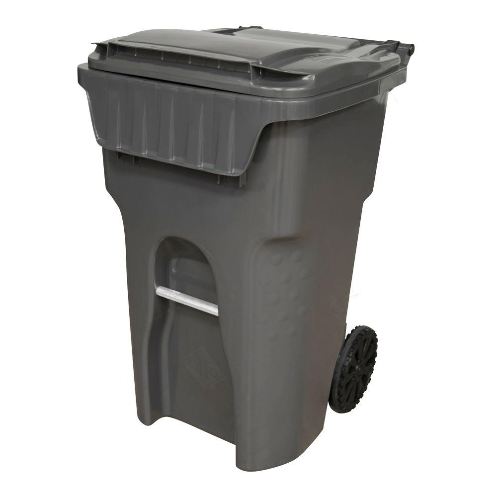 Otto Edge 65 Gal Grey Heavy Duty Rollout Trash Can