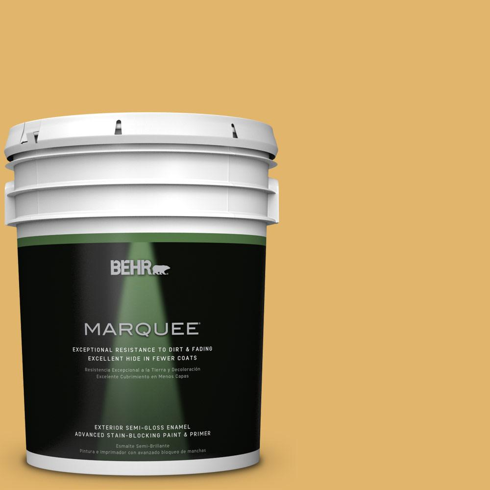 5-gal. #M290-5 English Custard Semi-Gloss Enamel Exterior Paint