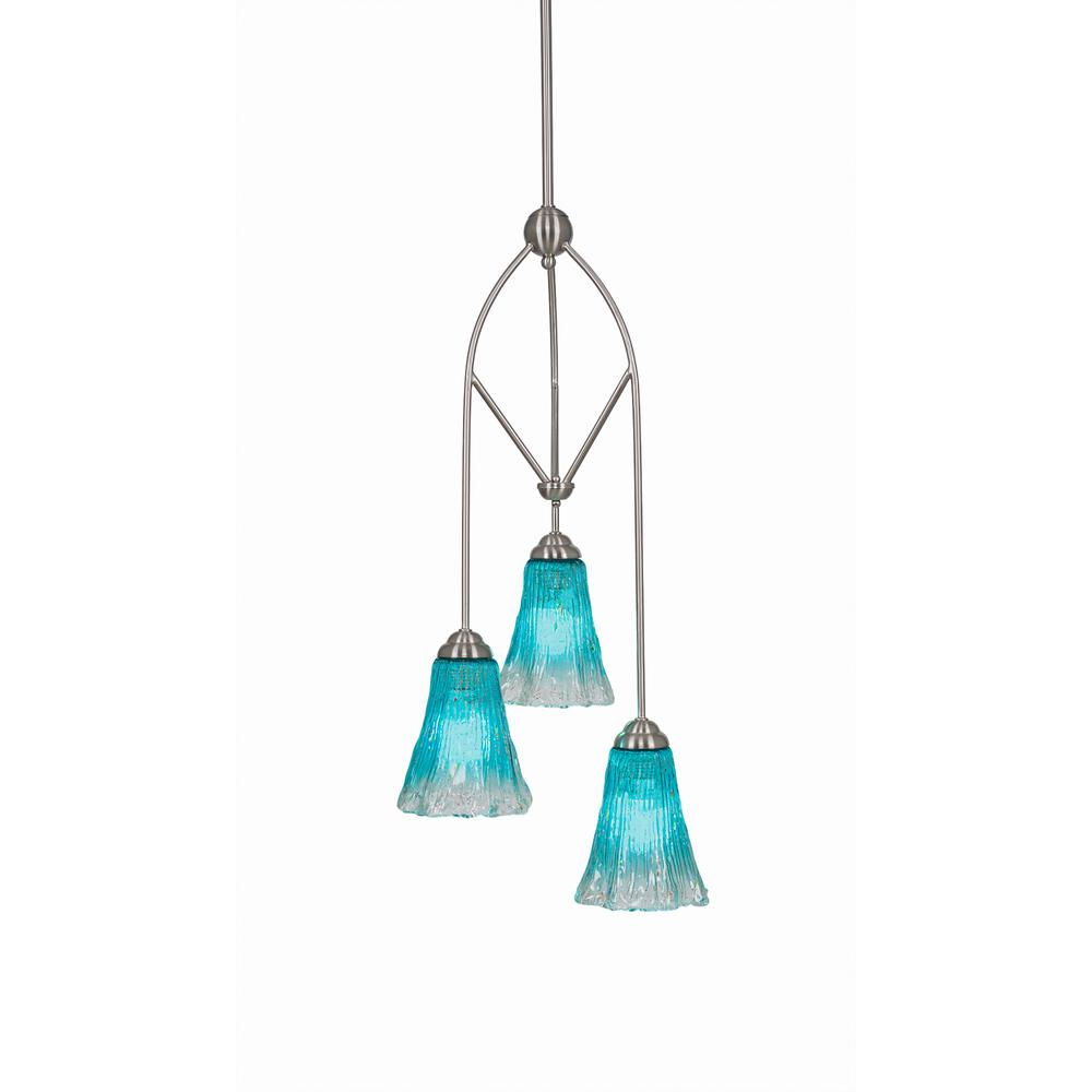 Cambridge 3-Light Brushed Nickel Pendant