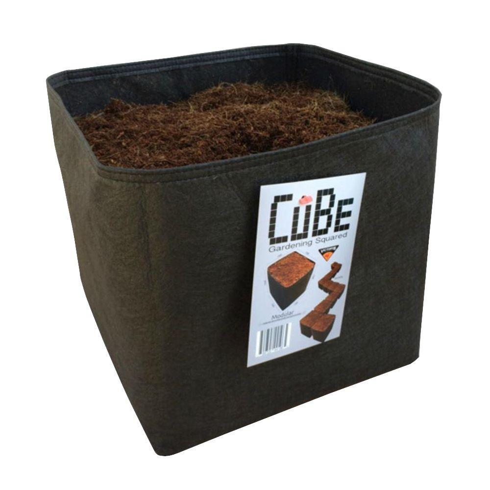 1 ft. x 1 ft. Black Modular Instant Raised Garden Planter CuBe by