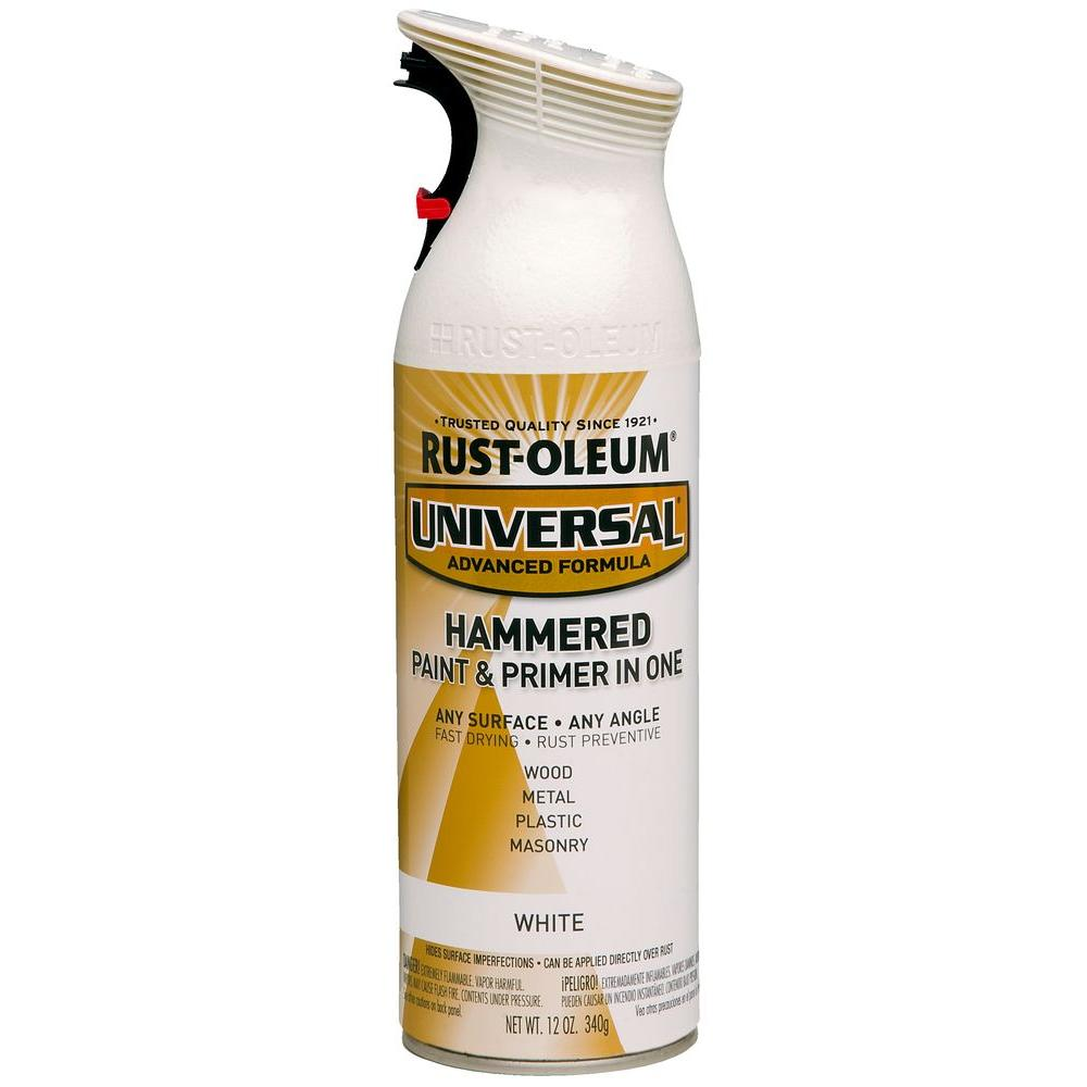 Rust-Oleum Universal 12 oz. All Surface Hammered White Spray Paint and primer in 1 (6-Pack)