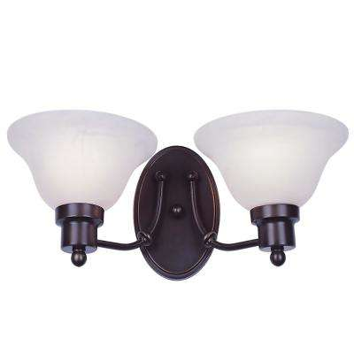 Perkins 2-Light Weathered Bronze Sconce