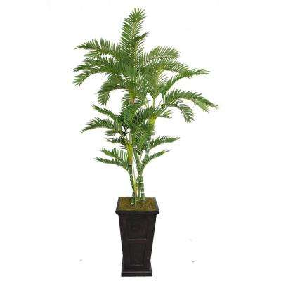 91 in. Tall Palm Tree in 16 in. Fiberstone Planter