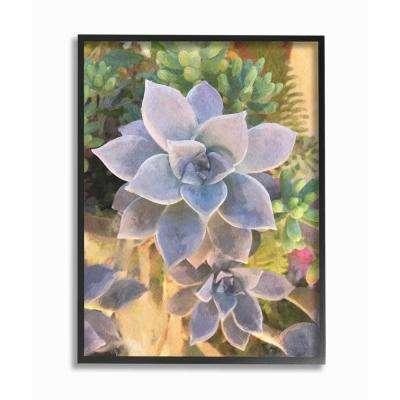 "16 in. x 20 in.  ""Succulent Plant Desert Party Painting"" by Joshua Chace Framed Wall Art"