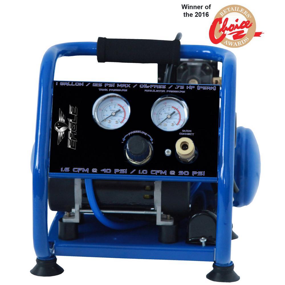 Silent Series 0.75 HP, 1 Gal. Oil Free Air Compressor