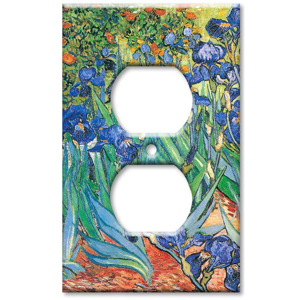Art Plates Van Gogh Irises - Oversize Outlet Cover
