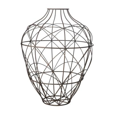 Russet Wire 26 in. Metal Decorative Vase in Brown