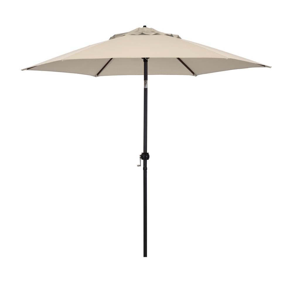 Astella 9 ft. Steel Market Push Tilt Patio Umbrella in Polyester Antique Beige