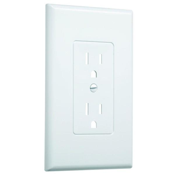 1-Gang MASQUE Duplex Decorator Wallplate, White