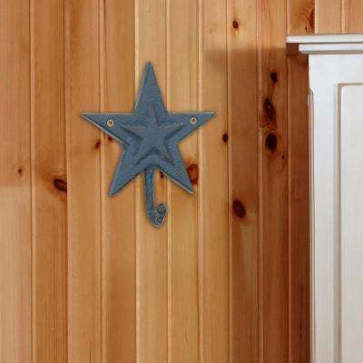 5 in. x 6 in. Summer Blue Double Star Wall Hook