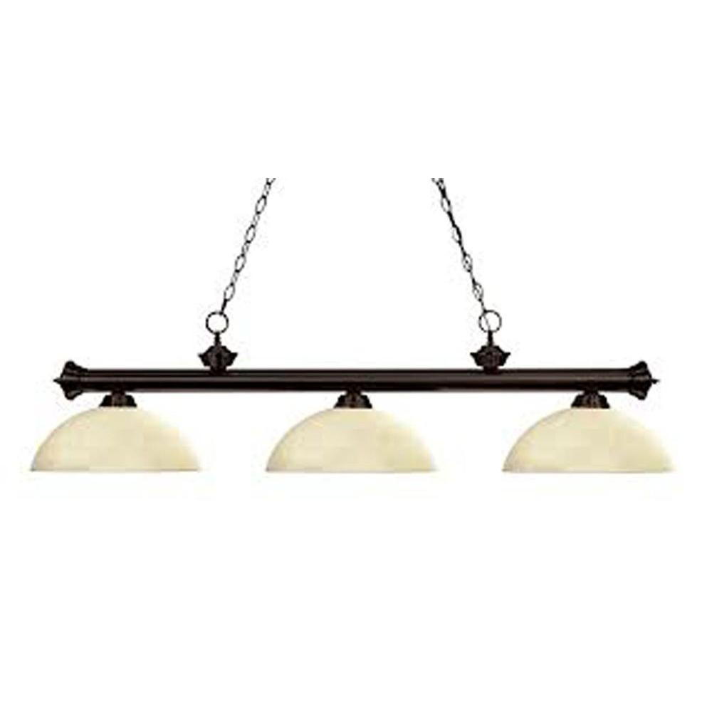 Lawrence 3-Light Bronze Incandescent Ceiling Island Light  sc 1 st  The Home Depot : troya lighting - azcodes.com