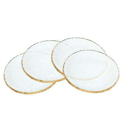 7 in. Harper Crystal Dessert Plates with Gold Trim (Set of 4)
