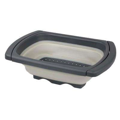 Flexible Silicone and Plastic Collapsible Colander