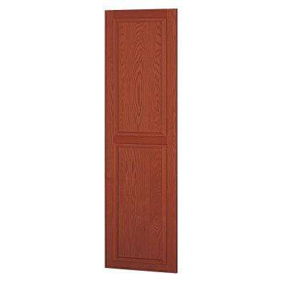 Solid Oak Side Panel for 24 in. D Executive Wood Locker in Medium Oak