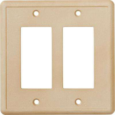 Delicieux 2 GFCI Wall Plate, Travertine