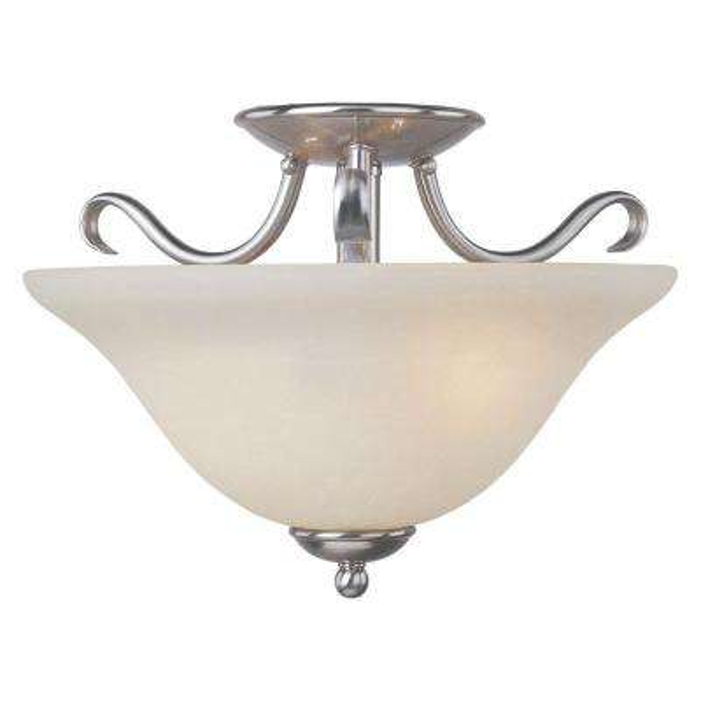 Basix EE 2-Light Satin Nickel Semi-Flush Mount Light