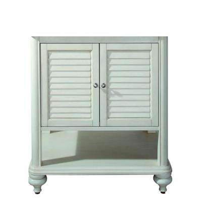 Tropica 30 in. W x 21 in. D x 34 in. H Vanity Cabinet Only in Antique White
