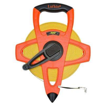 1/2 in. x 300 ft. Hi-Viz Orange Fiberglass Tape Measure