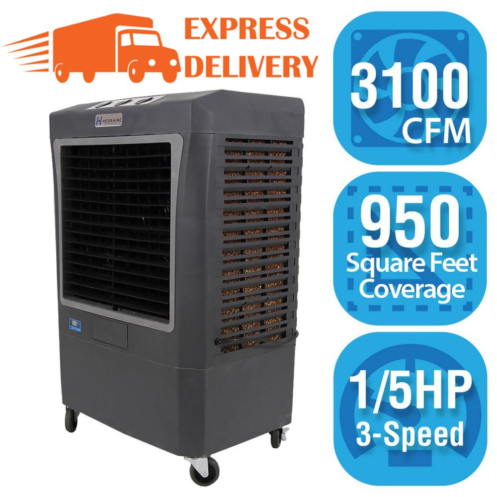 Hessaire Hessaire 3,100 CFM 3-Speed Portable Evaporative Cooler (Swamp Cooler) for 950 sq. ft., Gray