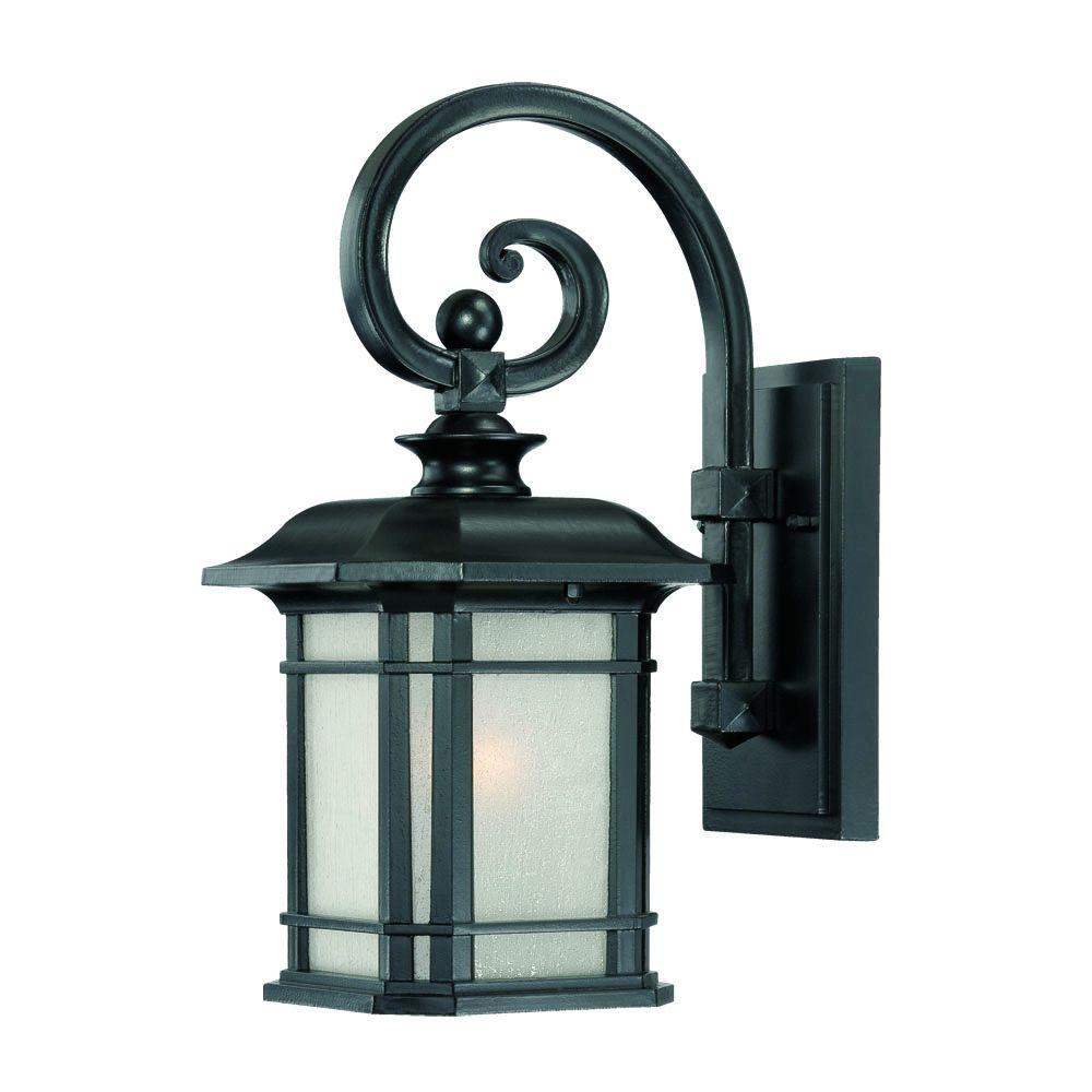 Acclaim Lighting Somerset Collection 1 Light Matte Black Outdoor Wall Mount Fixture