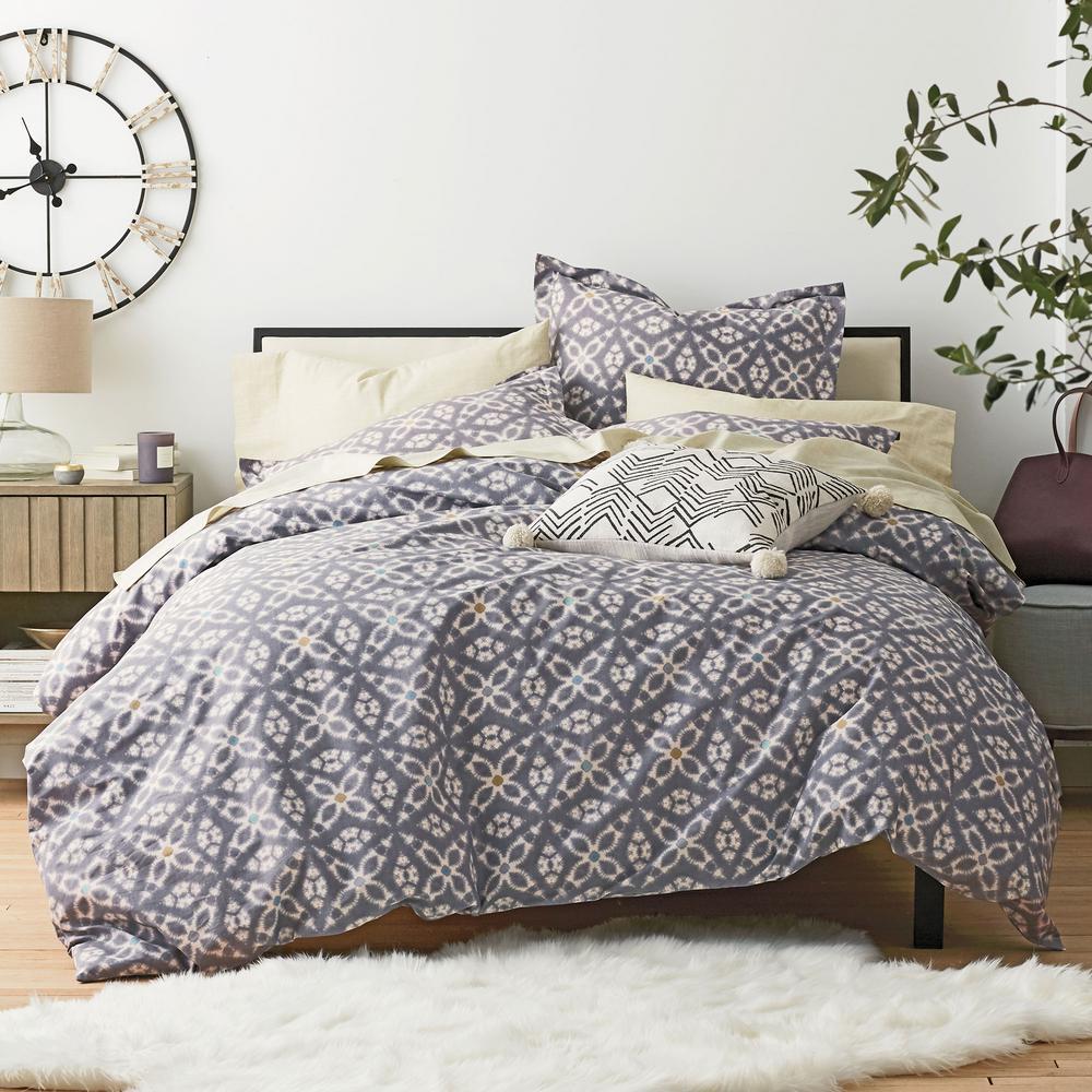 Stargaze Cotton Percale Duvet Cover Set