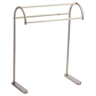 Freestanding Triple Towel Rack in SpotShield Brushed Nickel