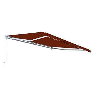 16 ft. Motorized Retractable Awning (120 in. Projection) in Burgundy