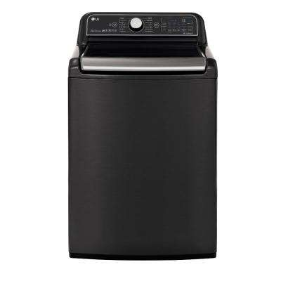 5.5 cu. ft. HE Mega Capacity Smart Top Load Washer with TurboWash3D and Wi-Fi Enabled in Black Steel, ENERGY STAR
