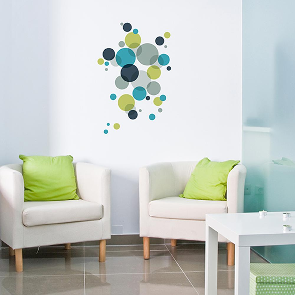 18 in x 26 in multi color wall transfer decal with dots