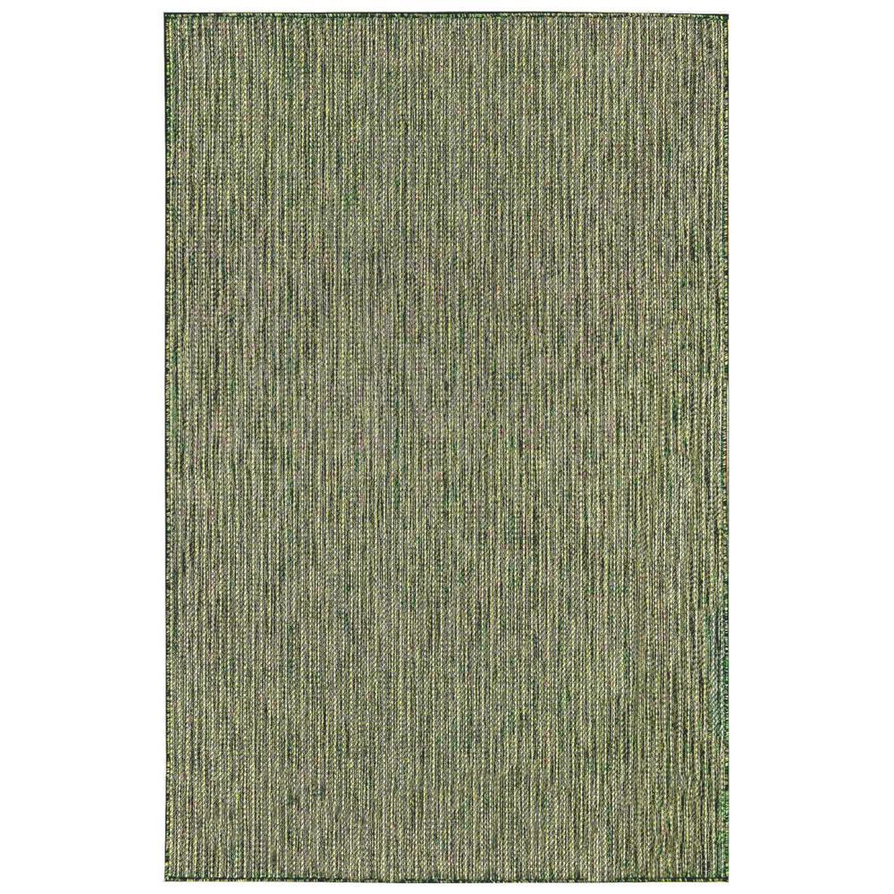 Liora Manne Carmel Texture Stripe Green 7 ft. 10 in. x 9 ft. 10 in. Indoor/Outdoor Area Rug
