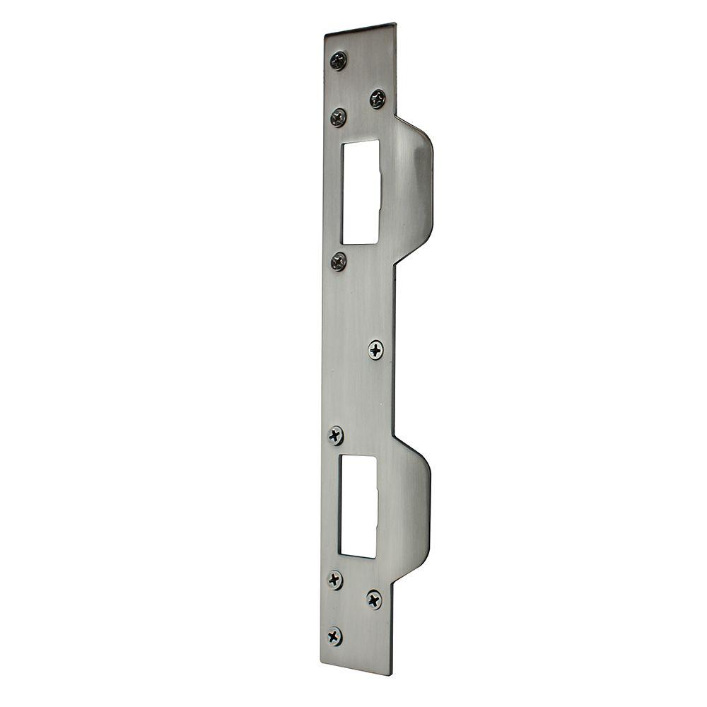 Satin Nickel Security Latch Strike