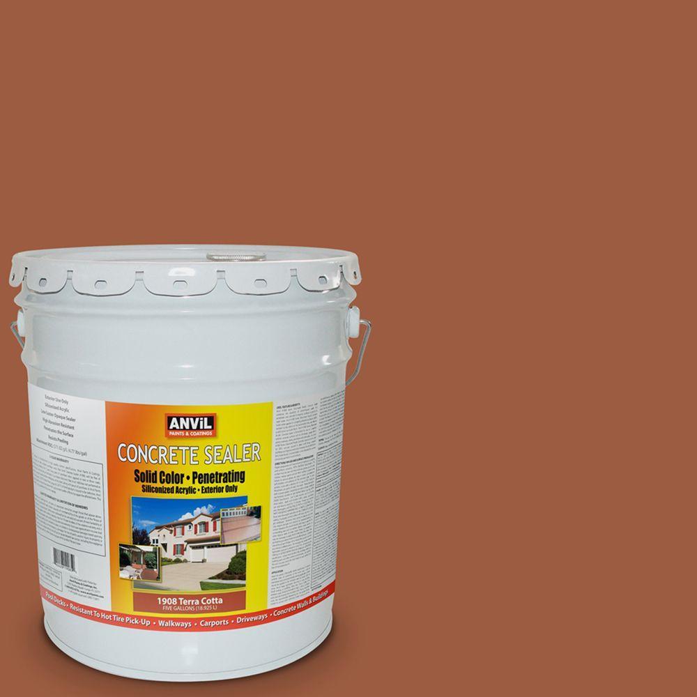ANViL 5-gal. Terra Cotta Siliconized Acrylic Solid Color Exterior Concrete Sealer-DISCONTINUED