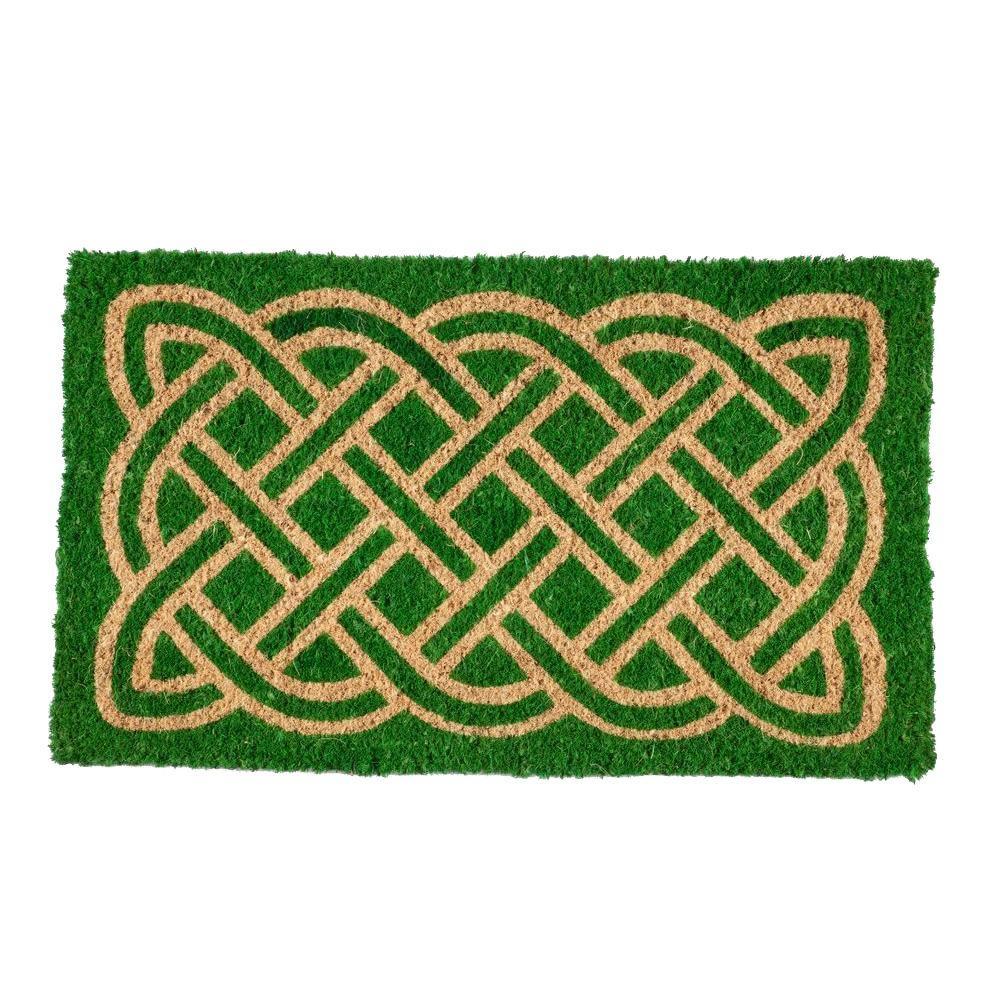 Celtic Hand 18 in. x 30 in. Woven Coconut Fiber Door Mat