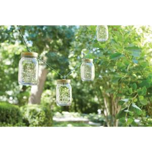 Hampton Bay 10-Light Plastic Mason Jar Patio String Lights by Hampton Bay