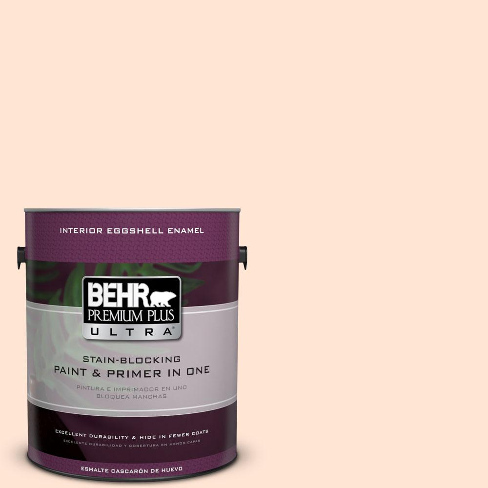 BEHR Premium Plus Ultra 1-gal. #P210-1 Sour Candy Eggshell Enamel Interior Paint