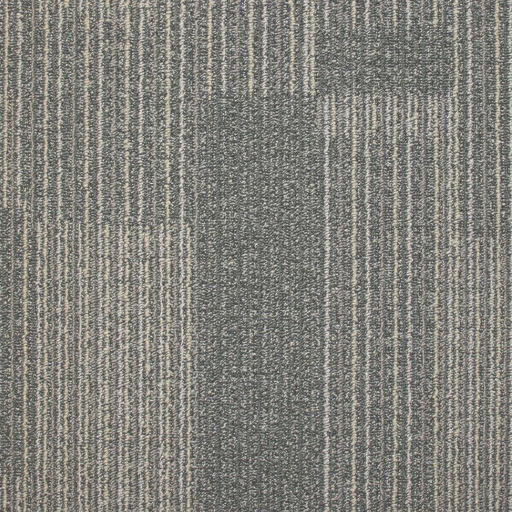 null Rockefeller Nickel Loop 19.7 in. x 19.7 in. Carpet Tile (20 Tiles/Case)