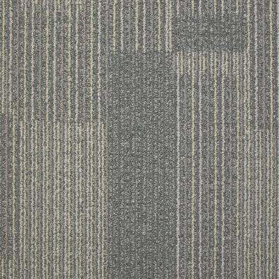 Rockefeller Nickel Loop 19.7 in. x 19.7 in. Carpet Tile (20 Tiles/Case)
