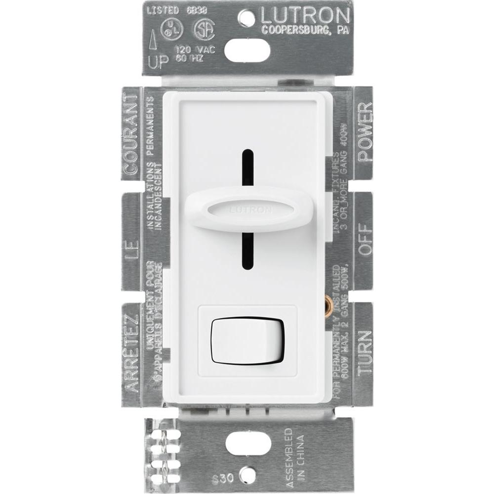 Lutron Skylark 600 Watt Single Pole Dimmer White S 600pr Wh The 3 Light Switch Wiring Diagram