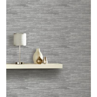 Slate Effect Grey Unpasted Wallcovering