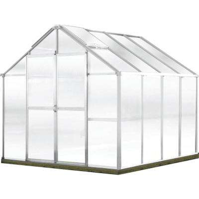 Growers Edition 8 ft. W x 8 ft. D x 7.6 ft. H Aluminum Greenhouse
