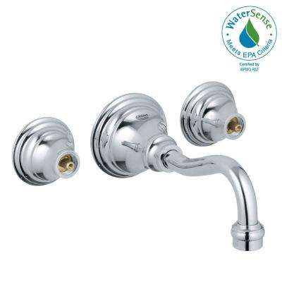 Bridgeford 2-Handle Wall Mount Bathroom Faucet in StarLight Chrome (Handles Sold Separately)