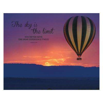 "22 in. x 28 in. ""Sky is the Limit"" Printed Canvas Wall Art"