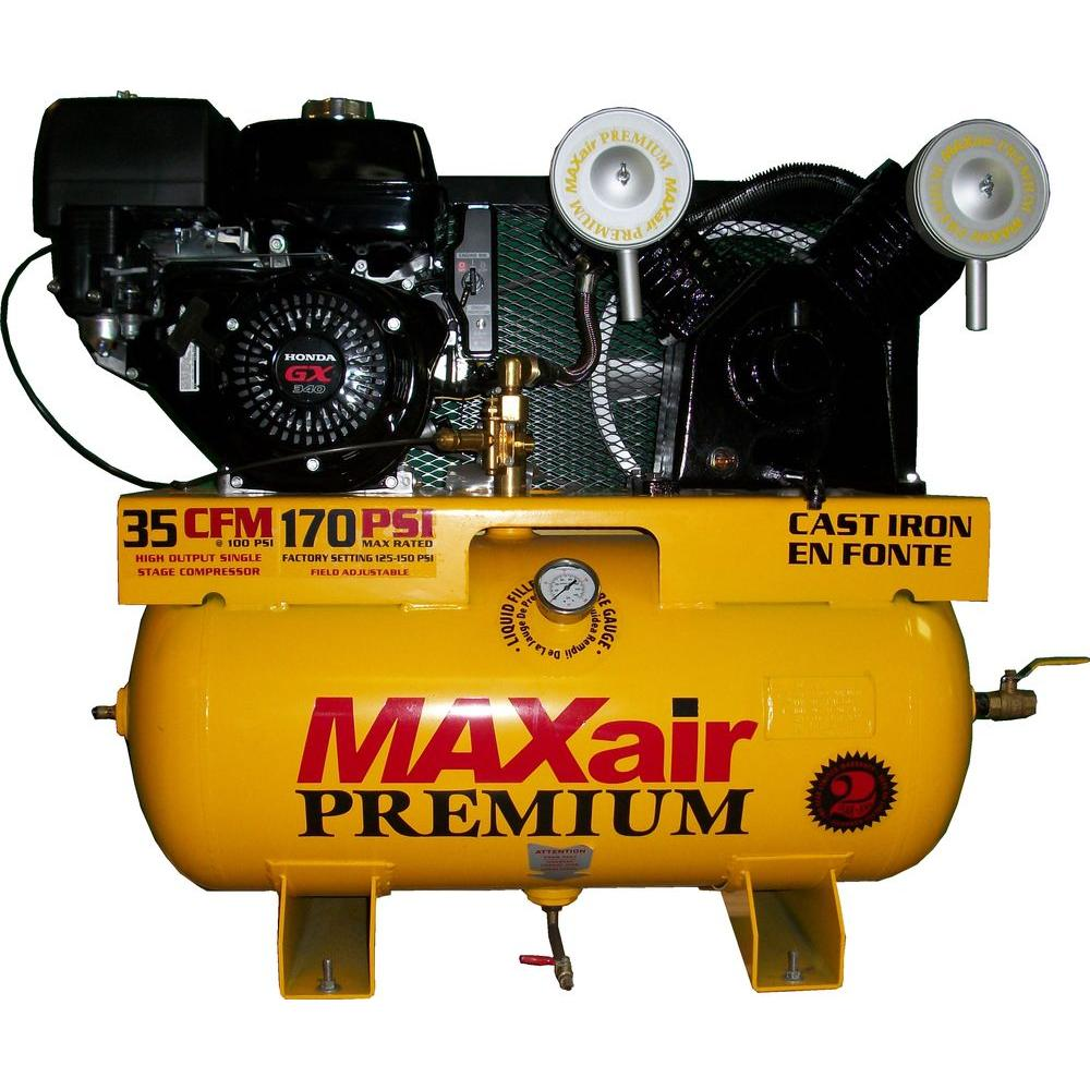 Maxair Premium Industrial Truck Mount 30 Gal. 11 HP Honda Electric Start Air Compressor