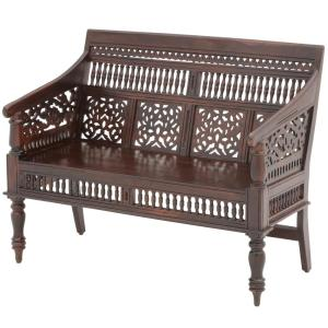 Tremendous Home Decorators Collection Maharaja Walnut Bench 0652000960 Creativecarmelina Interior Chair Design Creativecarmelinacom